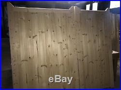 Wooden Driveway Gates 60/40 Split 70/30 Gap Boarded Garden Entrance Gate All 6ft