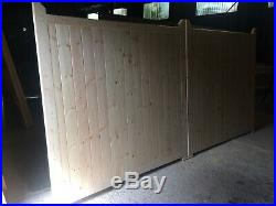Wooden Driveway Gates 6ft High x 12ft Wide (Each Gate 6ft Wide) Collection only