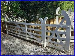 Wooden Driveway Gates And Pedestrian Gate