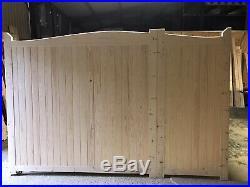 Wooden Driveway Gates And Pedestrian Uneven Split Gate 60/40 70/30 Custom Made