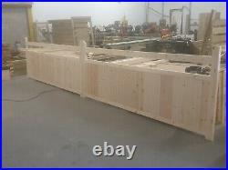 Wooden Driveway Gates California Redwood Kiln Dried Planed Luxury Mortice Tenon
