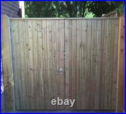 Wooden Driveway Gates Closeboard Handmade FREE DELIVERY Ready To Fit