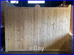 Wooden Driveway Gates Entrance Gate Close Board NO GAP Bespoke Sizes 6' HIGH