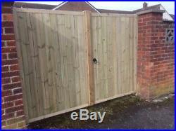 Wooden Driveway Gates, Entrance Gates Pressure Treated, Bespoke Wooden Gates-6ft