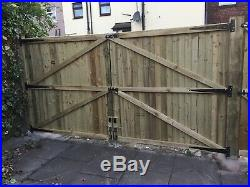 Wooden Driveway Gates Feather Edge Treated Heavy Duty