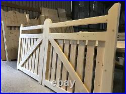 Wooden Driveway Gates Flat Top Picket New Modern Design The Rancher's Gate