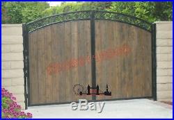 Wooden Driveway Gates / Front Driveway Gate / Gates/ Wrought Iron Gate/gates