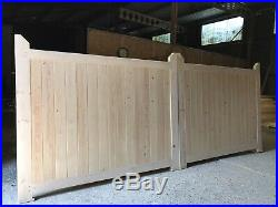 Wooden Driveway Gates Fully Boarded Closeboard New Cottage Gate Bespoke Made