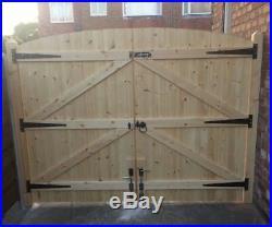 Wooden Driveway Gates! Garden Gates! Solid Gates! Free Hinges & Top Bolt