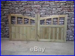 Wooden Driveway Gates, Half Moon Style (BUYING TOTAL WIDTH) 4FT H Bespoke