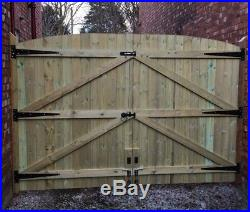 Wooden Driveway Gates Heavy Duty! Pressure Treated (green) Free Fitting Kit