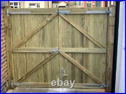 Wooden Driveway Gates High Quality Pressure Treated Redwood Bespoke Gates 6ft