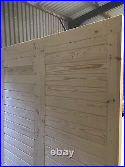 Wooden Driveway Gates Horizontal Boards Custom Made Gate Workshop Garage Doors