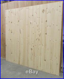 Wooden Driveway Gates Ledge & Braced Heavy Duty 6ft 1800mm Flat Top