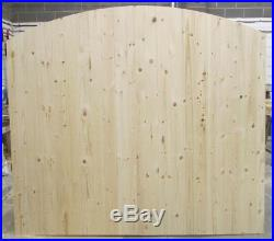 Wooden Driveway Gates Ledge & Braced Heavy Duty 6ft 1800mm Plus Curved Top