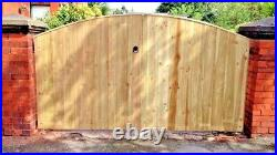 Wooden Driveway Gates Luxury Solid Garden Gates Made to Size Pressure Treated