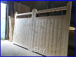 Wooden Driveway Gates Metal Spindles 6 X 10(Each Gate 5 Wide)Collection only