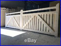 Wooden Driveway Gates Modern Picket Gates Near Me Custom Made New All 4 High