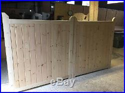 Wooden Driveway Gates New Boarded Entrance Gate Bespoke Custom Made ALL 6' HIGH