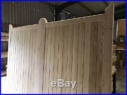 Wooden Driveway Gates New Fully Boarded Design Cottage Style Garden Custom Made