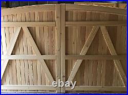 Wooden Driveway Gates Siberian Larch Bespoke Sizes Made Design The Subtle Gate