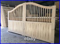 Wooden Driveway Gates Spindles Swan Neck New Modern Driveway Gate Bespoke Made