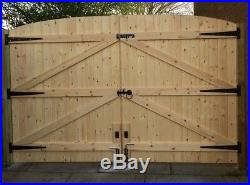 Wooden Driveway Gates T&g! Heavy Duty Gates! Free T Hinges & Top Bolt