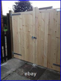 Wooden Driveway Gates Timber 8ftx6ft Also Bespoke Sizes Available