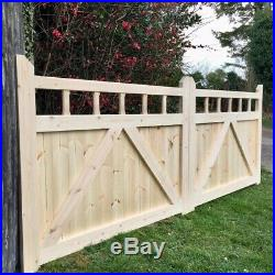 Wooden Driveway Gates With Spindle Design Feature New Garden Gate All 36 High