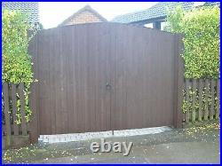 Wooden Driveway Gates each approx 4' 3. Wide plus side gate