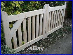 Wooden Driveway Pair of Gates= 3ft 6 High