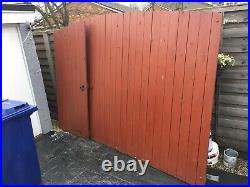 Wooden Driveway Used Gates 12ft (8 Foot And 3 Foot)
