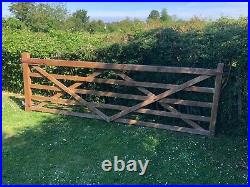 Wooden Driveway gate 11 ft wide