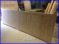 Wooden Garden Driveway Gates Entrance Gate Close Board Bespoke 4' And 5' HIGH