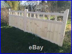 Wooden Garden Gate 3 X 12 New Driveway Gates With Spindles! Bespoke Sizes Made
