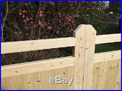 Wooden Garden Gate New Driveway Gates Feature Slot! Bespoke Custom Made 4' HIGH