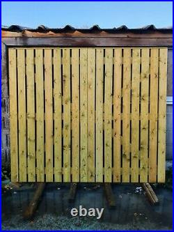 Wooden Gate, Driveway gates H6ft W7ft Heavy Duty Redwood Treated. Condition