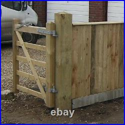 Wooden Gate Post Pyramid Top Driveway/Garden FREE DELIVERY 50 MILES BOSTON