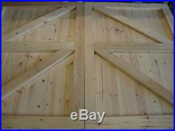 Wooden Gates Driveway Top Quality Timber Garden Tongue & Grooved Full Framed