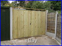 # Wooden Gates Tanalised Double Driveway Garden Ready Treated Feather Edged