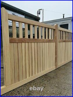 Wooden Hardwood driveway gates, Bespoke Gates
