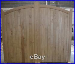 Wooden Oak Bow Top Driveway Gates Mortice & Tenoned 6ft 1800mm