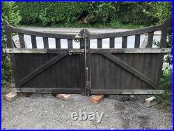 Wooden Oak Gates driveway, garden, vintage antique Church gates