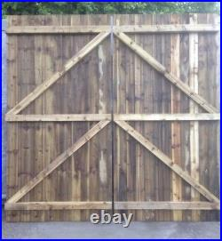 Wooden Pressure Treated driveway double gates