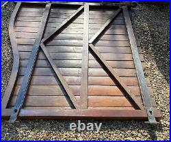 Wooden Swan Neck Driveway Gates 12ft Wide x 6ft High