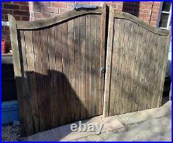 Wooden Swan Neck Driveway Gates Arched Gates