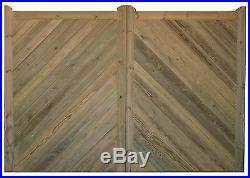 Wooden Tanalised / Treated Herringbone Pair Of Driveway Gate's