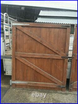 Wooden Timber Double Driveway Gates