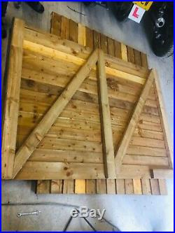Wooden Timber driveway gates