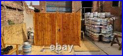 Wooden Treated Heavy Stained Oiled Driveway Gates Strap Hinge Latch Included